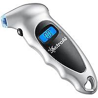 AstroAI Manómetro Digital Presión Ruedas, Medidor de Presión Neumáticos Moto Bicicleta Coche, Precisa,Ligero y Portátil Pantalla con Luz 0-10 Bares 1 Año de Garantía