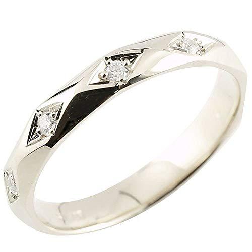 [アトラス]Atrus リング レディース sv925 スターリングシルバー ダイヤモンド 指輪 ピンキーリング カットリング 菱形 宝石 8号
