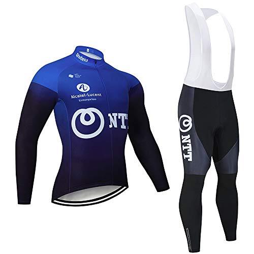 Bike Vêtements de Cyclisme pour Hommes, vêtements de Cyclisme à Manches Longues et Collants à Bretelles pour VTT en Plein air