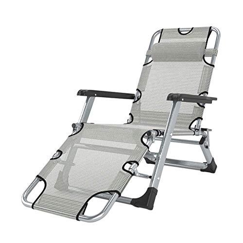 GY-C Sillas de salon para exteriores Heavy Duty Patio Zero Gravity, sillas de playa reclinables plegables ajustables de gran tamano para jardin, soporte 200 kg habitacion/B
