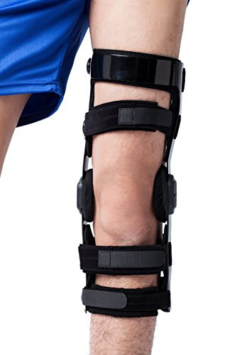 Orthomen Functional ACL PCL MCL Knee Brace for Ligament/Sports Injuries(M-Left)