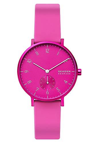 Skagen Damen Analog Quarz Uhr mit Silicone Armband SKW2803