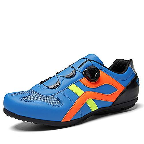 BETOOSEN Cycling Shoes Mens Lock-Free Road Biking Shoes MTB Unlocked Cycling Shoes Sneakers (Blue, 9 M US Men)