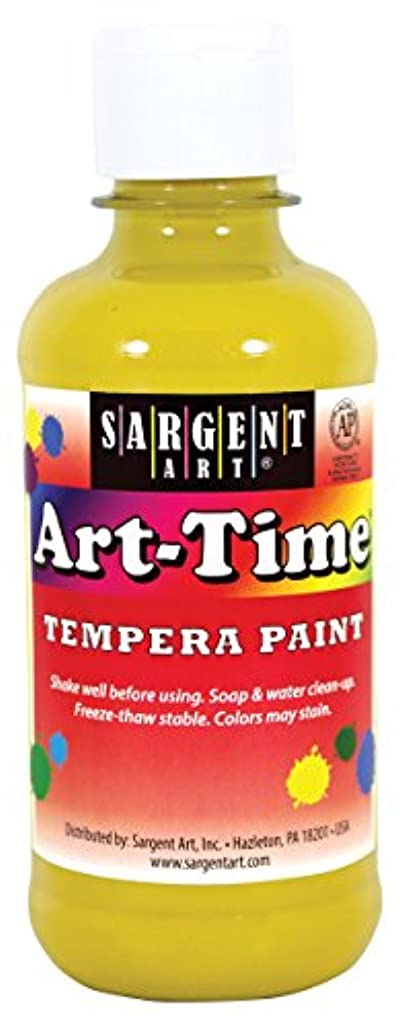 Sargent Art 17-6302 8 oz Yellow Art-Time Tempera Paint