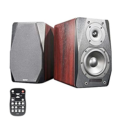 CAV Bookshelf Speakers, Active Audio Speakers Bluetooth 2.1 Channel RCA/OPT/AC/AUX/Dual COA Input Powered Remote Control for TV PC(Pair)-FD20 by CAV