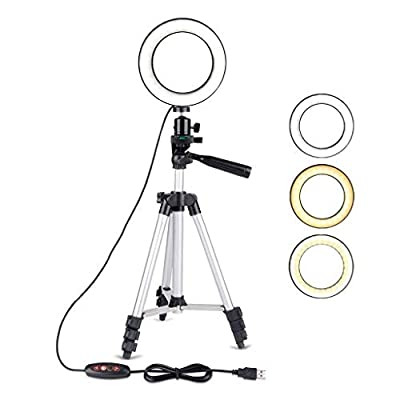 """5.7"""" Selfie Ring Light with Adjustable Trip..."""