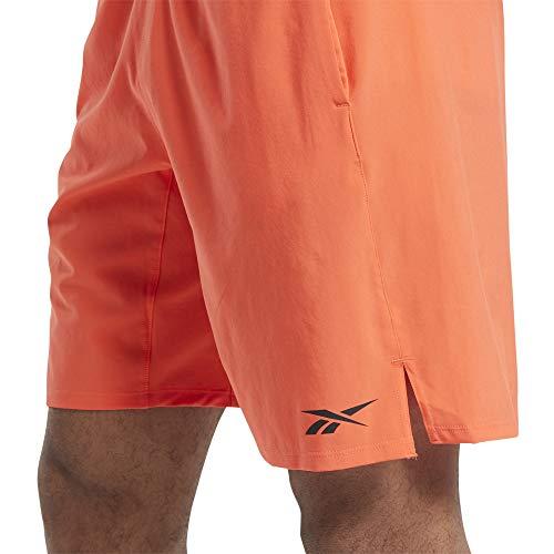 Reebok Herren Trainingszubehör Speed Short, Herren, Shorts, Training Supply Speed Short, Lebhaftes Orange, Small