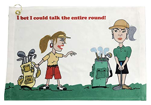 Giggle Golf Funny Golf Towels for Women (Talk The Entire Round)