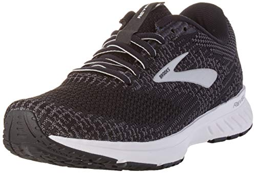 Brooks Womens Revel 3 Running Shoe - Black/Blackened Pearl/White - B - 9.5