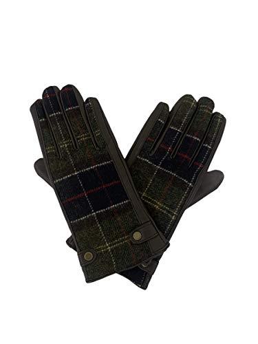 Barbour Damen-Handschuh Tartan mit Leder Größe S