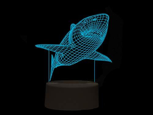 I-Total 3D LED Lampe | Futuristisches Design (Hai)