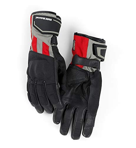 BMW Guantes para motocicleta GS Dry para hombre, color gris/rojo, talla 11-11,5