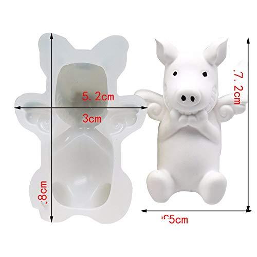 Cochon Volant Styling Décoration De Gâteau Voiture Parfumé Fondant Moule En Silicone Epoxy Lot De 2