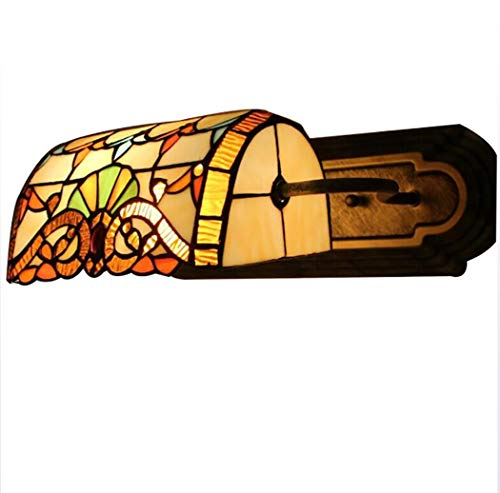 Yjmgrowing 16 Pulgadas de Estilo Tiffany Espejo Corredor Lámpara de Pared LED...