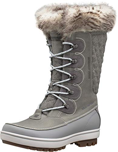 Helly-Hansen Womens Garibaldi VL Waterproof Winter Boot, 930 Light Grey/Alloy/Nimbus Cloud, 9