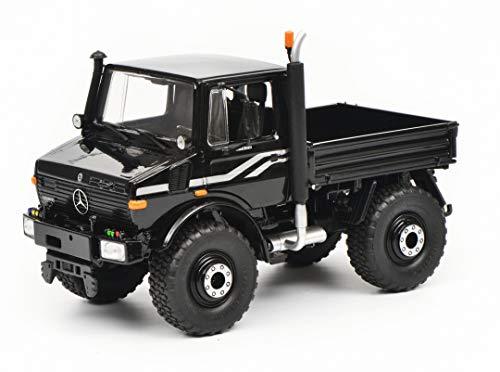 Schuco 450772300 schwarz 450772300-Mercedes Benz Unimog U1600 1:32, Modellauto, Modellfahrzeug