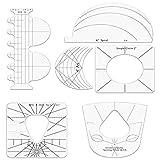 KoelrMsd Regla acrílica en Forma de Costura Regla de Retazos Multifuncional DIY procesamiento Regla de Costura Plantilla Herramienta de Patchwork