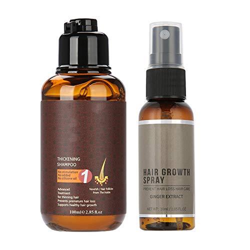 Hair Loss Treatment Ginger Shampoo Hair Growth Essence Spray Set Nourishing Hair Care for Women and Men