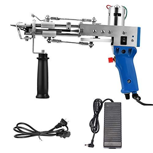 Tufting Gun, Cut Pile Rug Tufting Gun, Electric Carpet Weaving Machine, High Speed Carpet Weaving Flocking Gun, for DIY/Household/Commercial Use (Blue)
