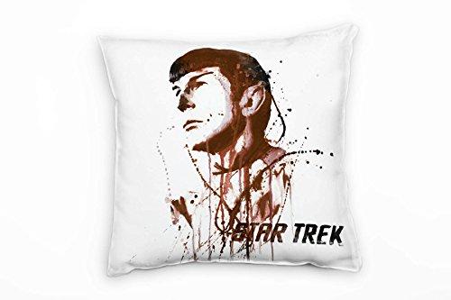 Paul Sinus Art Star Trek Spock Deko Kissen Bezug 40x40cm für Couch Sofa Lounge Zierkissen - Dekoration zum Wohlfühlen