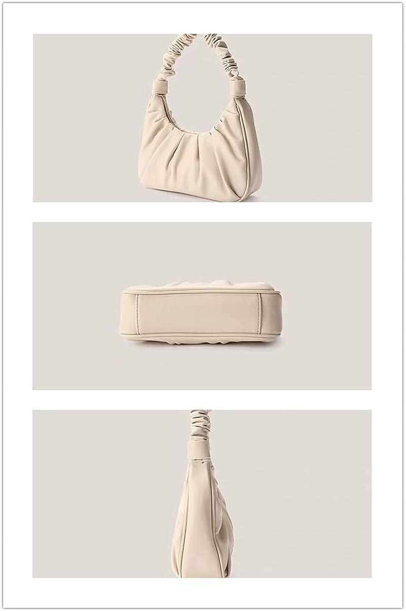 Pleats Cloud Dumpling Chain Pouch Bag Shoulder/Clutch Bag Purse Chunky Chain Strap Hobo Bag for Women