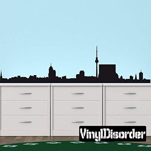 Berlijn Duitsland Skyline Vinyl muursticker of auto sticker SS106ET gemakkelijk aan te brengen en verwijderbaar