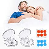 Snoring Solution, JOYXEON 2 Pcs Silicone Anti Snoring Devices, Magnetic Snore Stopper Clipple Snore Stop Professional Snore Device for Men Women, with 12 Pcs Silicone Moldable 22dB Reduction Earplugs