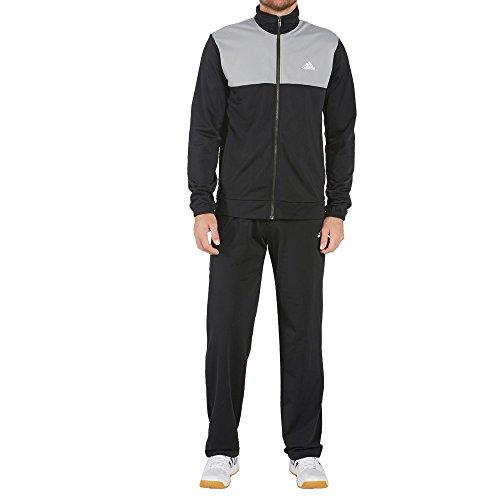 adidas Herren Back 2 Basics Trainingsanzug, Black/MGH Solid Grey, 7
