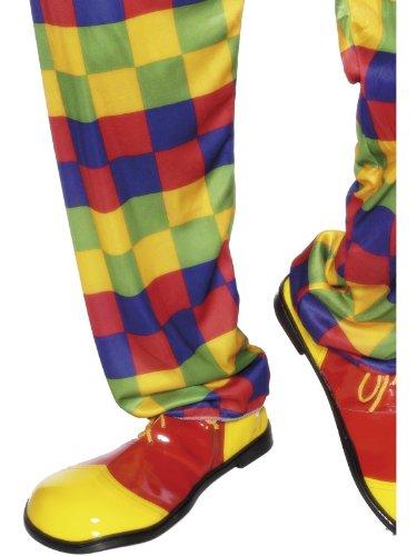 Smiffys-25519 Zapatos de Payaso, Deluxe, Color Amarillo, Tamaño único (Smiffy'S 25519)