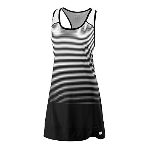 Wilson W Team Match Dress Vestido, Mujer, Black/White, S