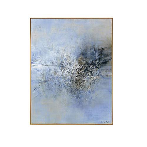 juou Zao WOU Ki Peinture sur Toile Abstraite Art Classique Mur Photo pour Salon Hall Moderne Affiche Impression Toile Peinture 60x90 cm sans Cadre