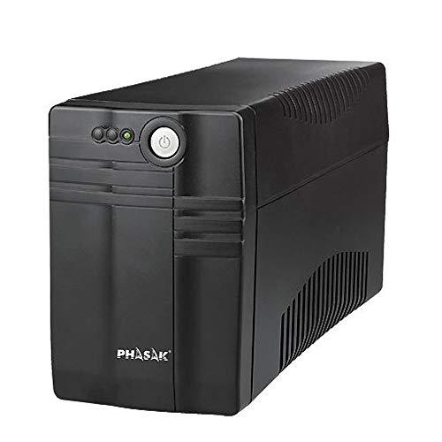 Phasak PH9460 - Sistema de alimentación ininterrumpida (650 VA, LED), Negro