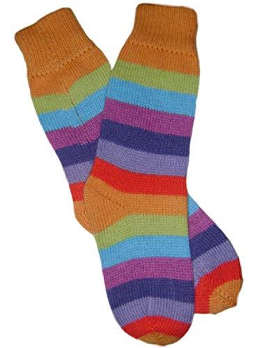 Gamboa - Premium Alpaca Socks - Extra Warm and Soft - Rainbow Striped Design