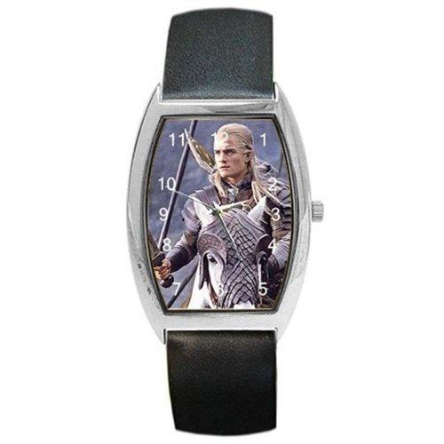 """Orlando Bloom """"Legolas"""" Signore degli Anelli su un barile orologio con cinturino in pelle"""