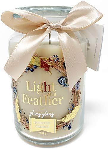 PAMA GROUP Vela perfumada decorativa en tarro de cristal grande para el...
