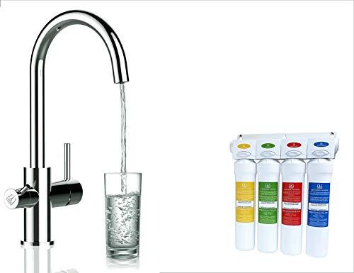 Vollständiges Wasserfilter system + 3 Wege Wasserfilter Chrom Küchenarmatur