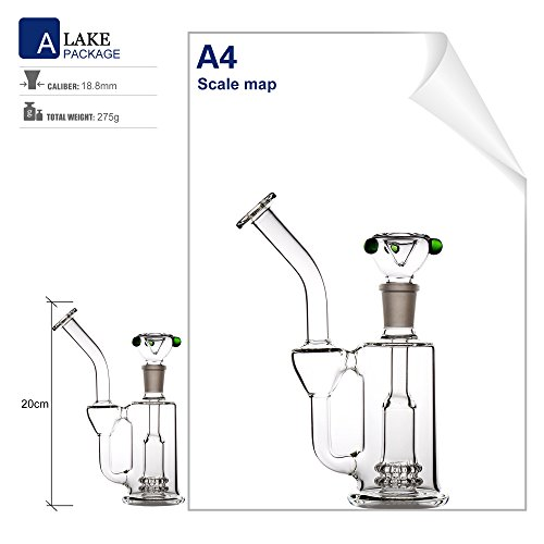 Product Image 4: REANICE Reciclador Glass Bongs Hookah Fumar Pipa 18.8mm Bong Tazon Altura 20cm Pipas de Vidrio Recto Panal Branch Agua de Bong Oil Rigs Pipe Gran Bongs de Vidrio Transparente con Accesorios
