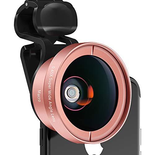 Telefoon Lens Kit 0.45x Super Wide Angle+12.5x Macro Lens HD Camera Lens, zoom Lens voor iPhone11 9 8 /Xiaomi/Redmi/Samsung/Huawei/Meest smartphones