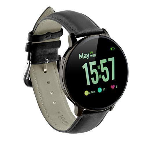 Sami - Red.Health - Smartwatch, Smartband, Pulsera de Actividad. para Android y iOS Función: GPS, presión sanguínea, Fuerza G, Multideportivo. Negro