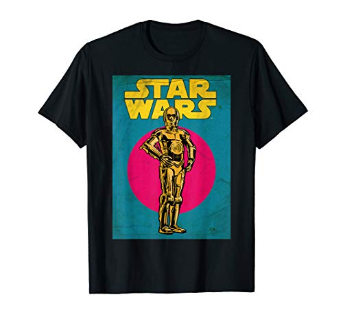 Star Wars C-3PO Vintage Trading Card Graphic T-Shirt