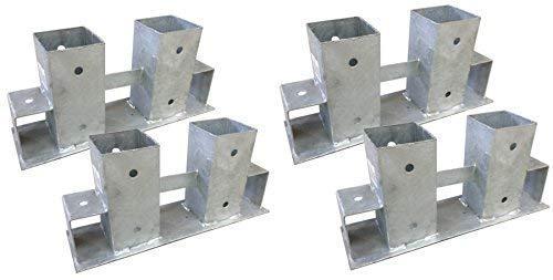 TikTakToo 4X Stapelhilfe verzinkt Brennholz Kaminholz Holzstapelhilfe Holz Gestell