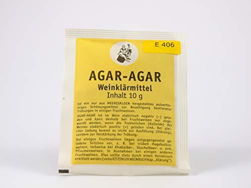 AGAR-AGAR 10g - ARAUNER Weinklärmittel - Schönungsmittel