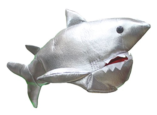 Petitebelle Silver Shark Soft Hat Dress Up Party Costume for Unisex Free Size (Sliver)