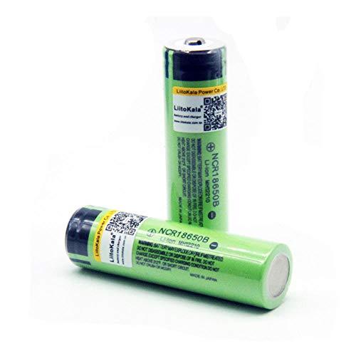 2 Stück 3,7 V 18650B 3400 mAh Batterien für Power Bank für Taschenlampe