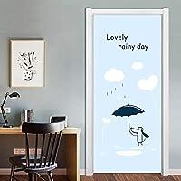 ドアステッカー 3Dスーパーマリオドアインテリアアート壁画のためにキッズルームプレイルームの漫画ビニールのドアステッカーリムーバブルステッカー防水の壁紙 (Color : 013, Sticker Size : 77x200cm)