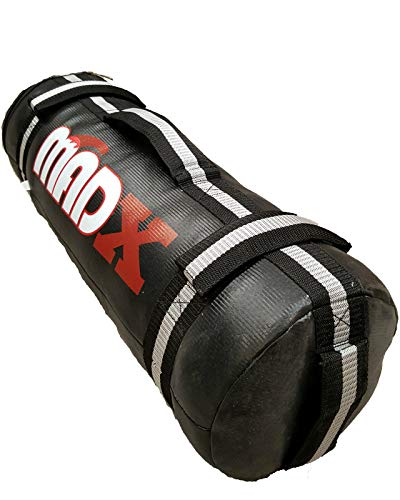 MADX Power Cloth Sand FILLED Bag Powerbag Training Sandbag Black 0-30kg (Black/Grey, 20kg)