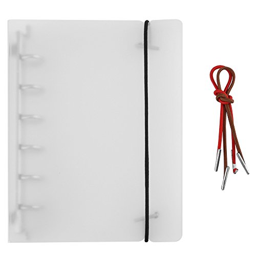 6 gaten losse bladen notitieboek afdekking, doorzichtig zacht PVC notebook ronde ringbinder, A5 / A6 / A7 ringbandhoes blad map verzamelalbum fotoalbum A7