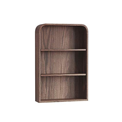 Estante para Libros Estante Flotante de la Pared de 3 Capas Organizador de Escritorio de Servicio Pesado para el Dormitorio y la Sala de Estar en el Soporte de exhibición (marrón) Librero