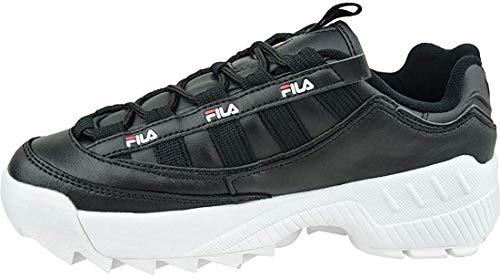 FILA D-Formation wmn zapatilla Mujer, negro (Black/White/Fila Red), 37 EU