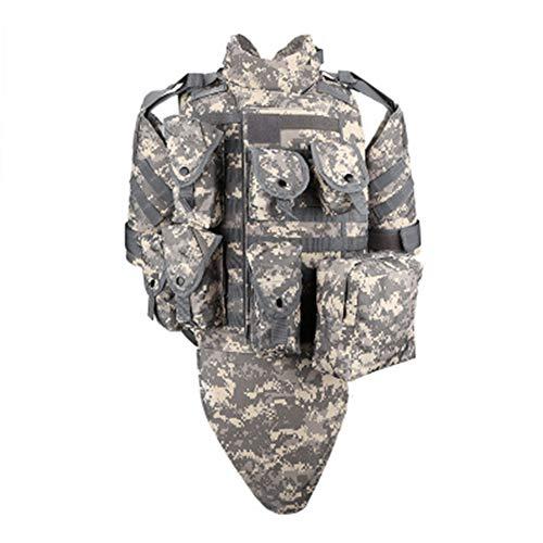 ZWL Taktische Weste, schwere Rüstung mit Armeelüfter-Schutz ausgestattet, geeignet für Ei Cosplay Jagd Live CS Spiel,ACU